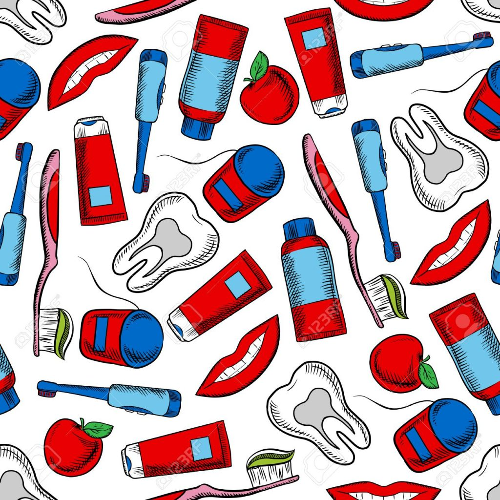 55679808 oral hygiene and dental care colorful background with sketchy seamless pattern of healthy teeth toot 1024x1024 - رازهای مراقبت از دهان و دندان